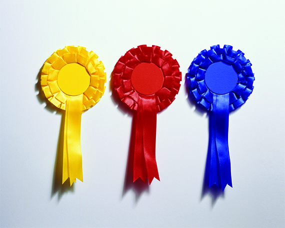 Three rosettes in a row